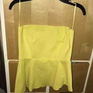 Strapless asymmetrical top